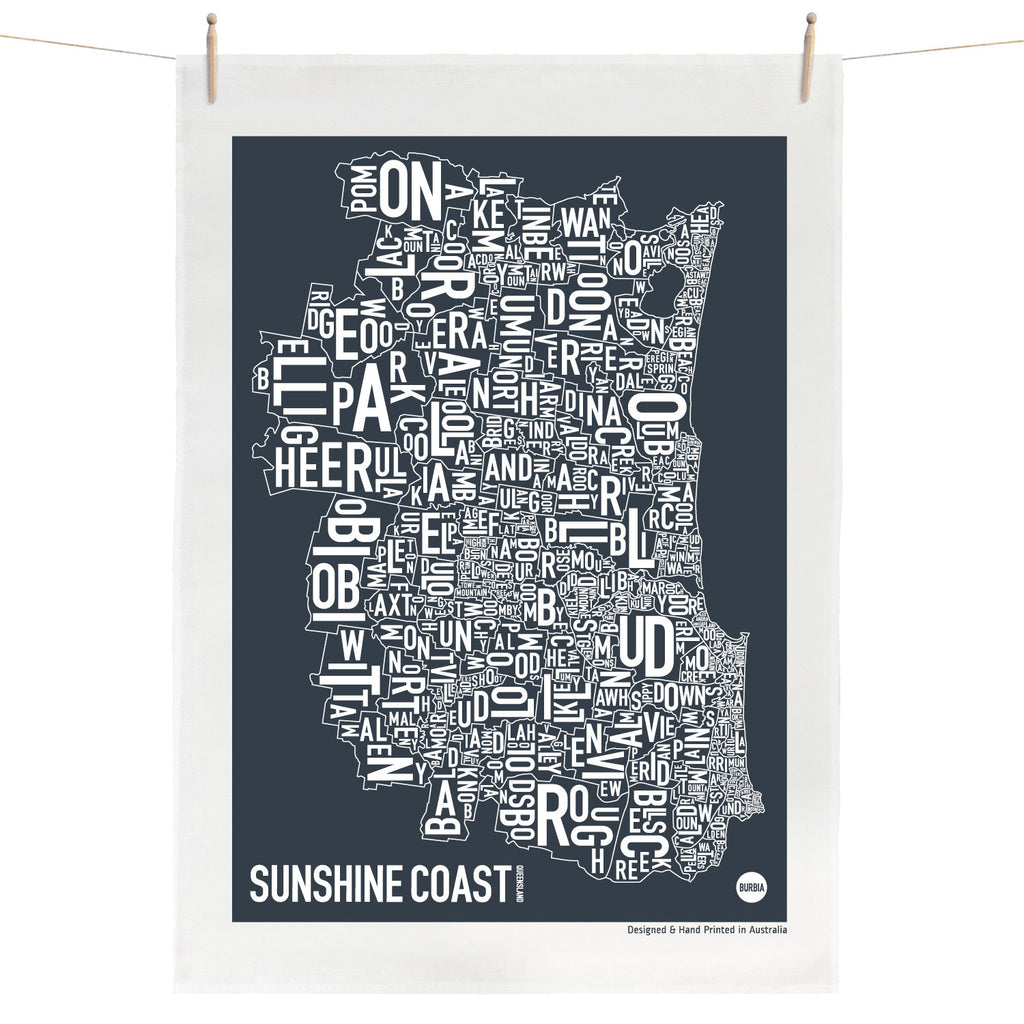 Sunshine Coast Tea Towel