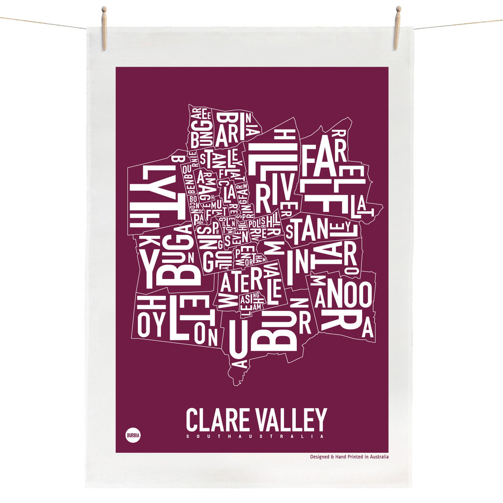 Clare Valley Tea Towel