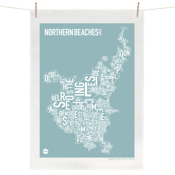 Sydney Northern Beaches Tea Towel
