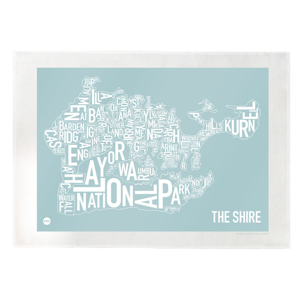 Burbia Sydney The Shire Type Print Tea Towel