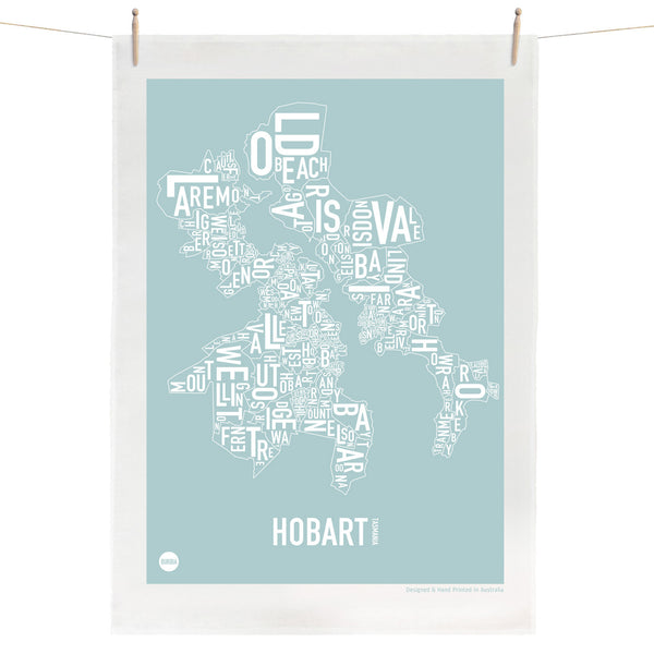 Burbia Hobart Type Print Tea Towel