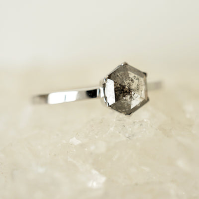 Create Your Own - Geometric Rose Cut Diamond Solitaire Ring