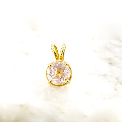 Morganite Solitaire Pendant
