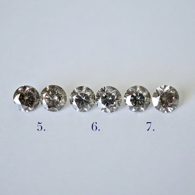 Salt and Pepper Diamond Stud Earrings