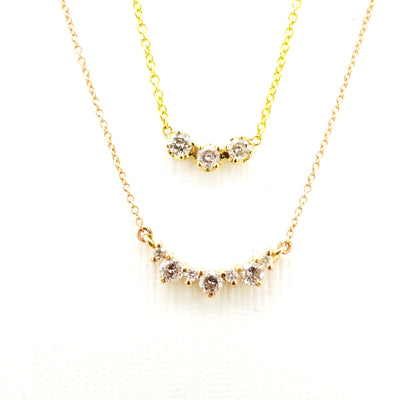 Salt and Pepper Diamond Cluster Necklace