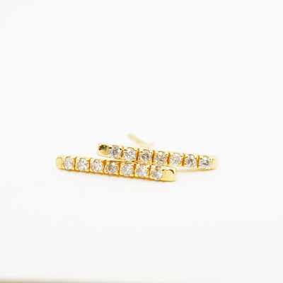 Diamond Bar Stud Earring
