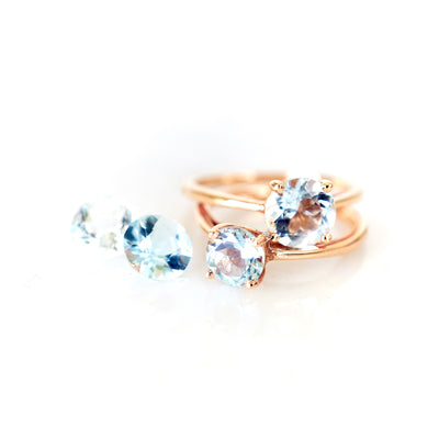 Aquamarine Ring in 14k gold