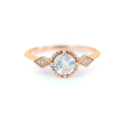 Moonstone Compass Bead Ring