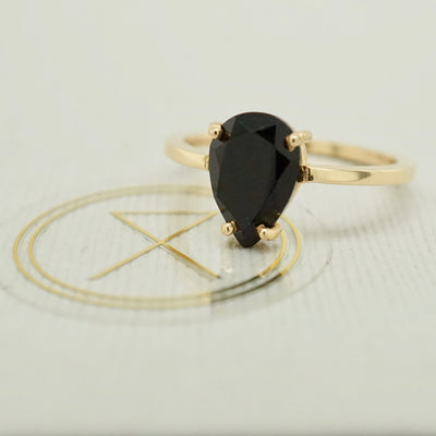 Black Onyx 14k Gold Ring