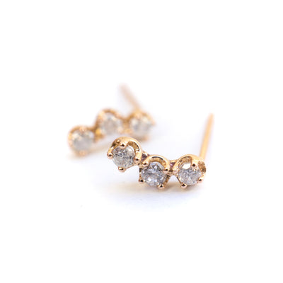 Salt and Pepper Diamond Cluster Earrings