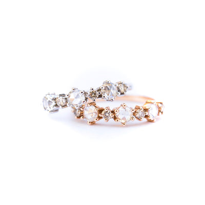 Rose Cut Diamond Band