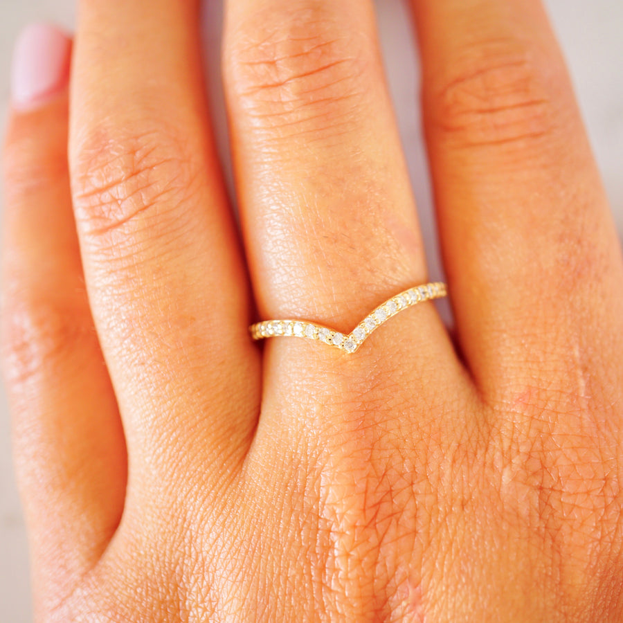 Chevron Diamond Nesting Ring