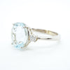 Aquamarine Diamond Engagment Ring