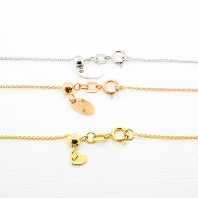"Adjustable 20"" Gold Cable Chain"