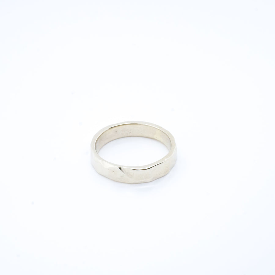 Men's Hammered Sterling Silver Wedding Band