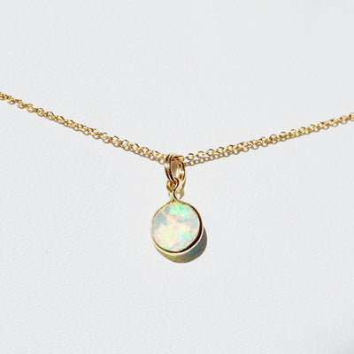 Opal Pendant Necklace