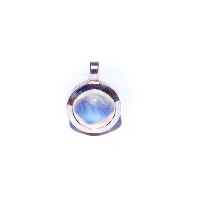 Moonstone Bezel White Gold Pendant