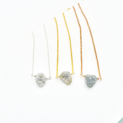 Raw Diamond Necklace - Featured on BuzzFeed