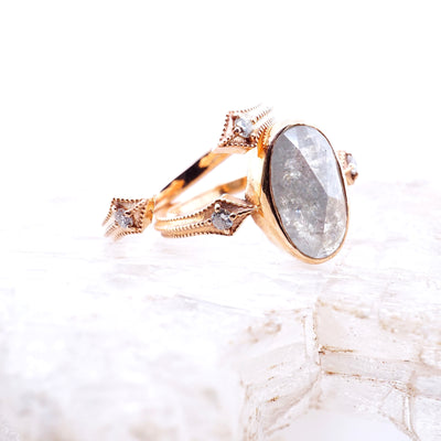 Original Compass Diamond Open Cuff Ring