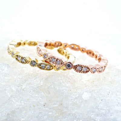 Vintage Style Diamond Eternity Band