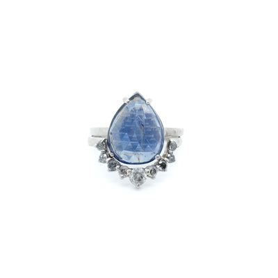 Sapphire and Diamond Wedding Set