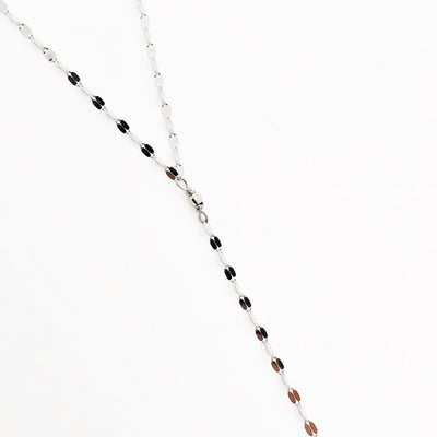 Gold Lariat Necklace, Sparkle Y Chain