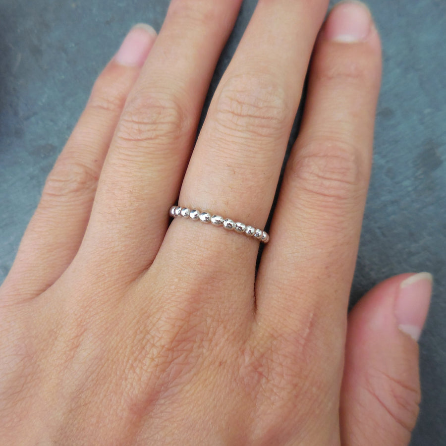 Sterling Silver Ball Bead Stackable Band