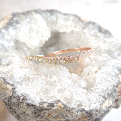 Diamond Half Eternity Wedding Band