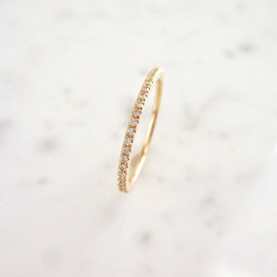 Diamond Eternity Band in Yellow Gold