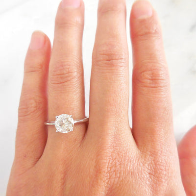 Moissanite Solitaire Engagement Ring