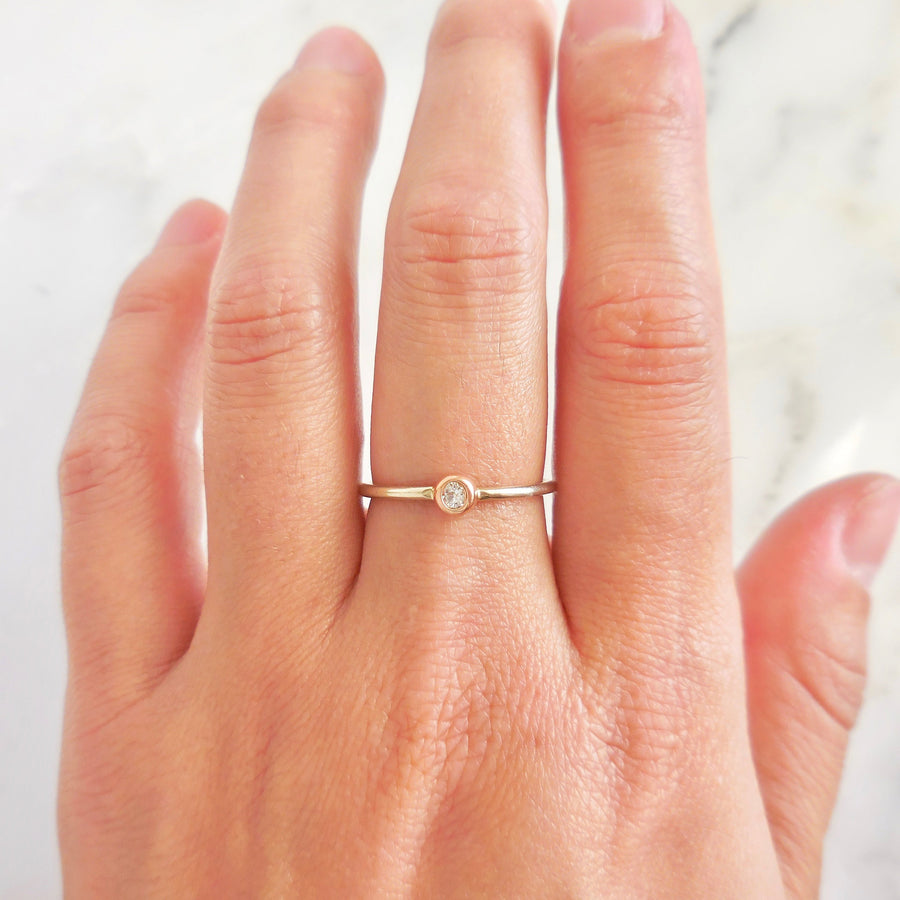 Dainty Diamond Stacking Ring