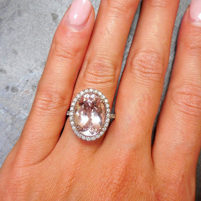Light Pink Morganite Diamond Engagement Ring
