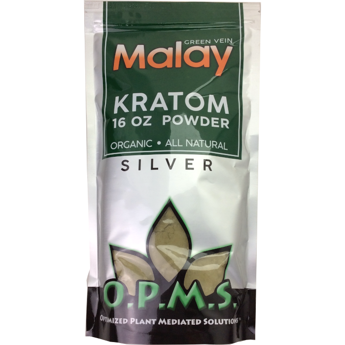 OPMS Kratom Silver Malay POWDER 16 oz