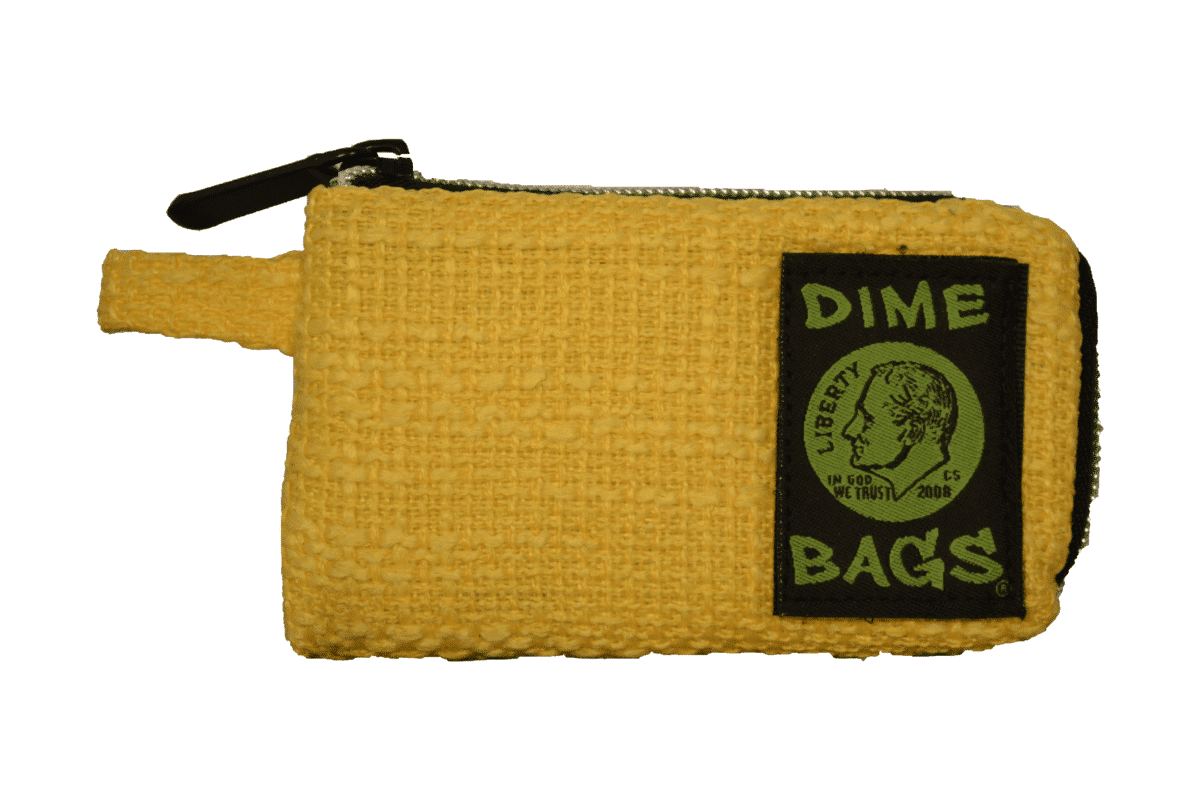 "Dime Bag - 5"" Pouch - Yellow"