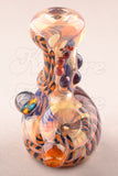 Fumed Inside Out Abstract Dry Hammer Hand Pipe 1