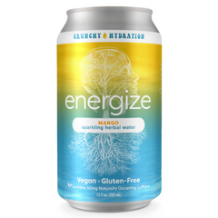 Energize Mango Sparkling Herbal Water