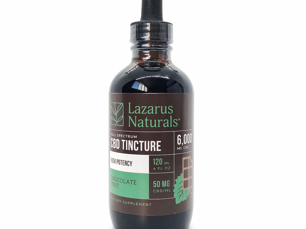 Lazarus Naturals 6000mg CBD Tincture Chocolate Mint