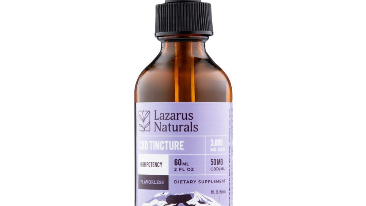 Lazarus Naturals Flavorless High Potency CBD Isolate Tincture
