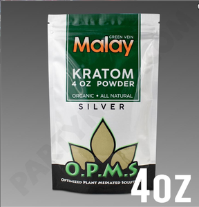 OPMS Kratom Silver Malay POWDER 4 oz