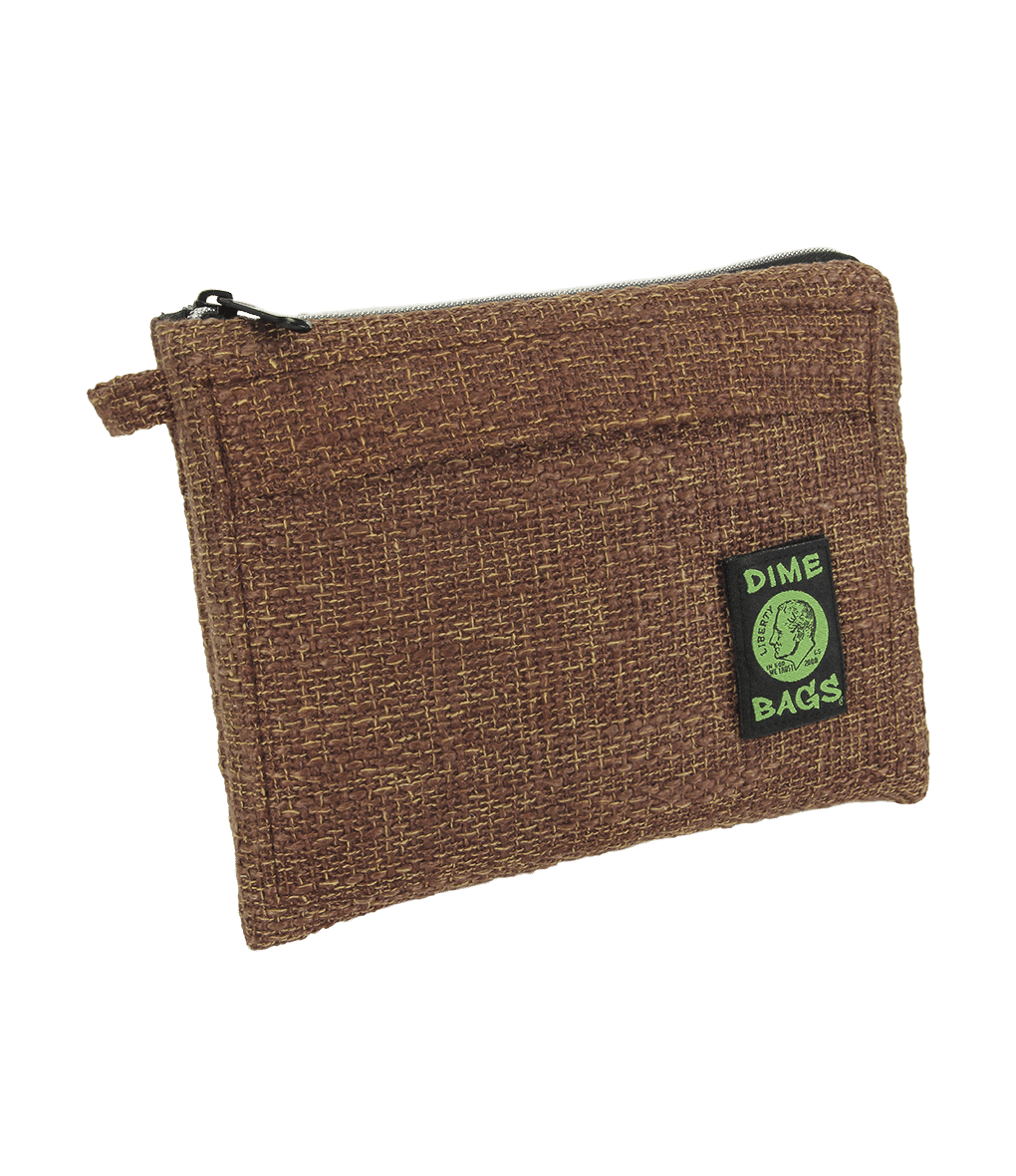 "Dime Bag - 10"" Pouch - Brown"