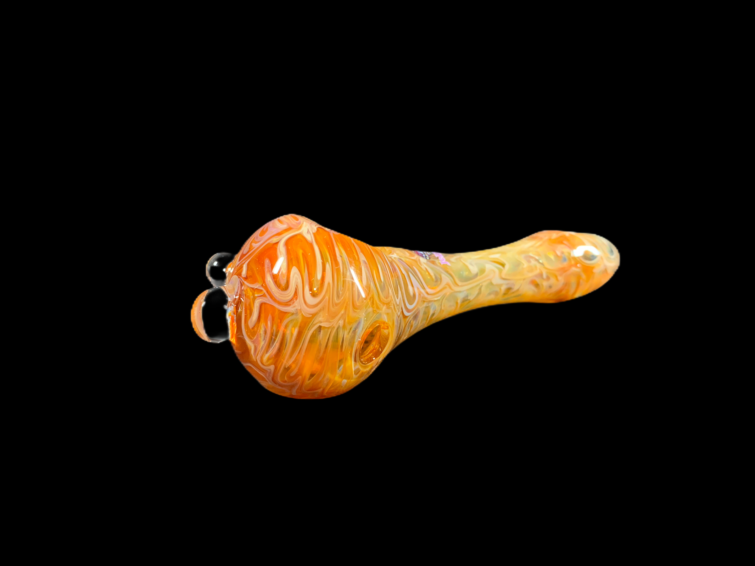 Squigges Flatmouth Handpipe - Amber