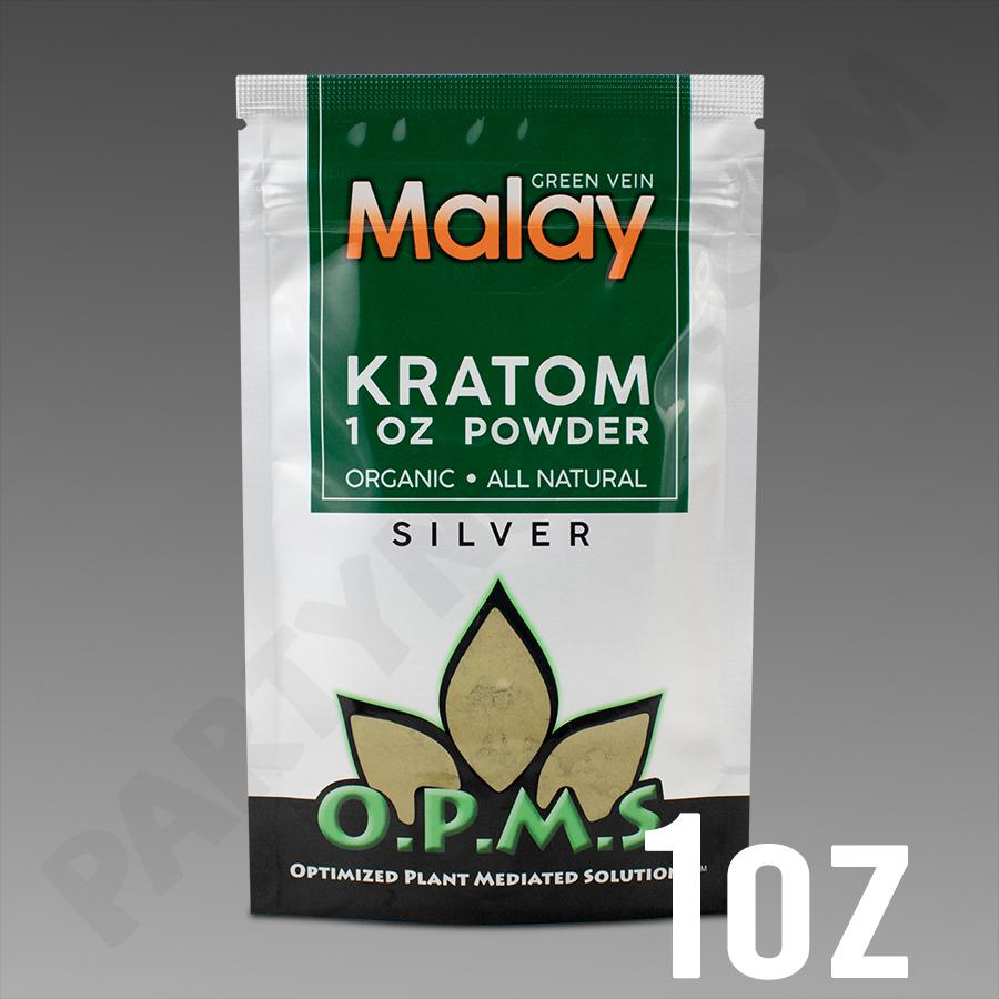 OPMS Kratom Silver Malay POWDER 1 oz / 28.35g
