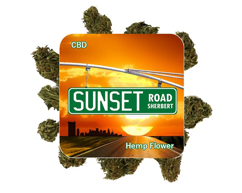 Sunset Road Sherbert Hemp Flower - 3 gram