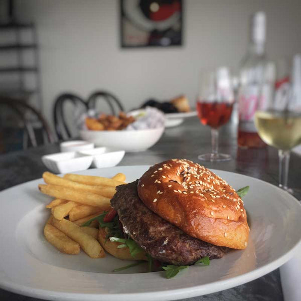 Lamb and Mint Burger with Brioche Bun