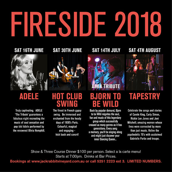 Fireside 2018 Great Live Events on the Bellarine Peninsula