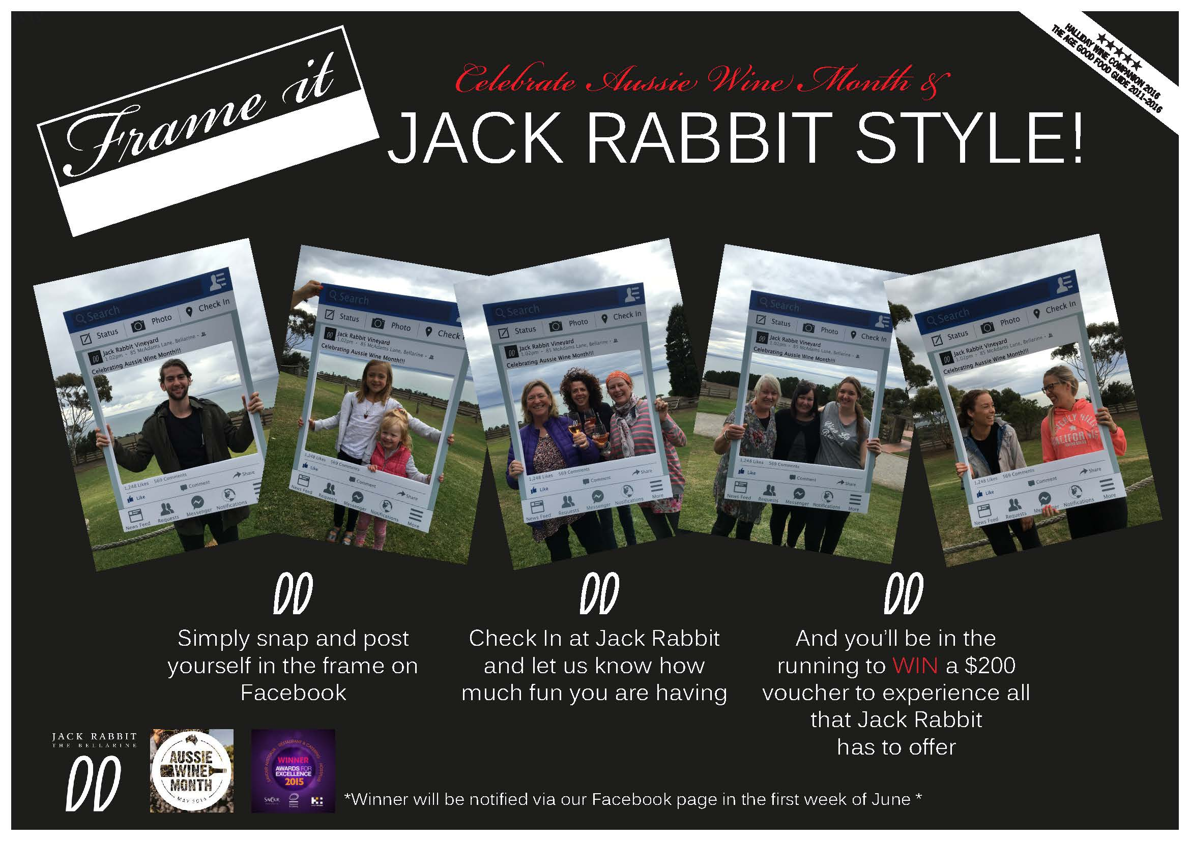 Aussie Wine Month at Jack Rabbit Vineyard on the Bellarine Peninsula - Celebrating Australian Wine