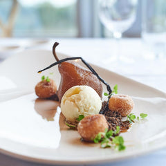 Poached Pear. New Winter Menu at Jack Rabbit Vineyard Bellarine Winery