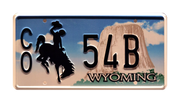 CO 54B prop plate movie memorabilia from Longmire starring Robert Taylor