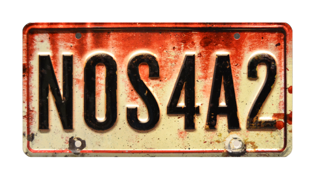 NOS4A2 prop plate movie memorabilia from Joe Hill's novel with Charles Manx