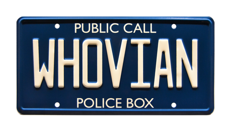 WHOVIAN prop plate movie memorabilia from Doctor Who starring David Tennant